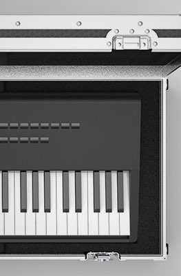 Control Key 88 Keyboard Flight Case