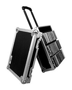 100 CD Flight Case with Handle and Wheels - Manufactured in House