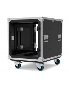 12U Slide & Slam Shockmount Rack Case with Wheels