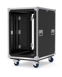 18U Slide & Slam Shockmount Rack Case with Wheels