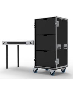 3 Drawer Universal Production Flight Case