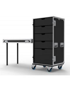 5 Drawer Universal Production Flight Case