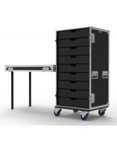 9 Drawer Universal Production Flight Case