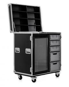Hospitality Flight Case with Euro Drawers and Fridge