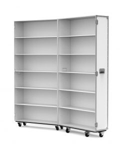 Large Retail Display Flight Case in White