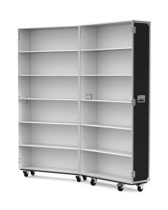 Large Retail Display Flight Case with White Interior