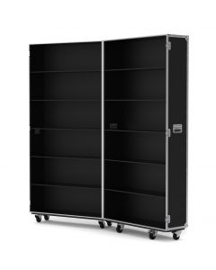 Large Retail Display Flight Case in Black