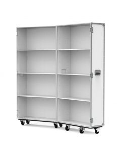 Medium Retail Display Flight Case in White