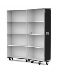Medium Retail Display Flight Case with White Interior