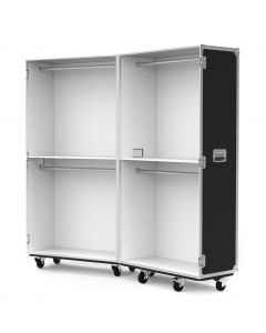 Retail Display Flight Case with Clothes Rails