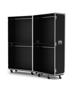 Retail Display Flight Case with Clothes Rails in Black