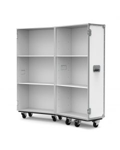 Small Retail Display Flight Case in White