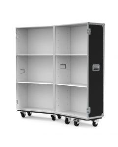 Small Retail Display Flight Case with White Interior