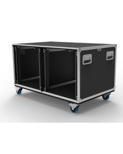 12U Double Slide & Slam Shockmount Rack Case