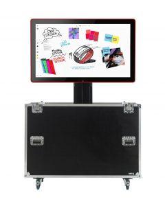 Motorised TV Lift Flight Case For Google Jamboard 55 inch Screen