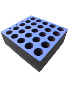 Microphone Insert for 25 Microphones - 6U Rack Drawer Insert
