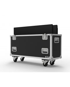 Double 55 inch Custom Screen Flight Case | NSP Cases