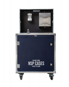 Contact Free Hand Washing Workstation Flight Case - HIRE ONLY