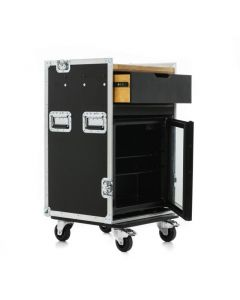 Hospitality Flight Case to house Coffee Machine and Fridge