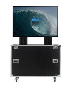 Motorised TV Lift Flight Case For Microsoft Surface Hub 2 Board