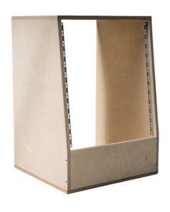 10U Angled 19 inch Wooden Studio Rack - 440mm Deep