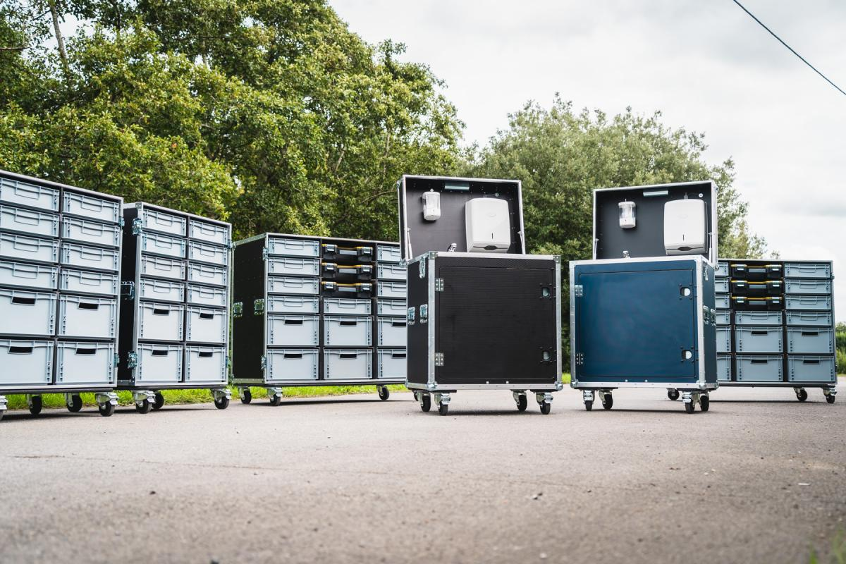 Recent Work: Portable Wash Stations & Euro Drawer Flight Cases